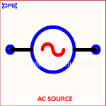 AC SOURCE ELECTRONIC SYMBOL OR SCHEMATIC SYMBOL