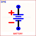 BATTERY ELECTRONIC SYMBOL OR SCHEMATIC SYMBOL