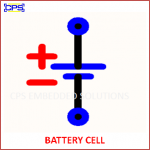 BATTERY CELL ELECTRONIC SYMBOL OR SCHEMATIC SYMBOL
