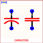CAPACITOR ELECTRONIC SYMBOL OR SCHEMATIC SYMBOL