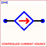 CONTROLLED CURRENT SOURCE ELECTRONIC SYMBOL OR SCHEMATIC SYMBOL