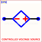 CONTROLLED VOLTAGE SOURCE ELECTRONIC SYMBOL OR SCHEMATIC SYMBOL
