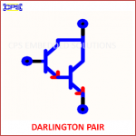 DARLINGTON PAIR ELECTRONIC SYMBOL OR SCHEMATIC SYMBOL