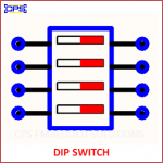 DIP SWITCH ELECTRONIC SYMBOL OR SCHEMATIC SYMBOL
