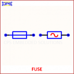 FUSE ELECTRONIC SYMBOL OR SCHEMATIC SYMBOL