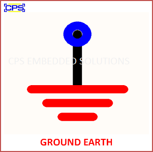 Electronic Components Symbols - GROUND EARTH