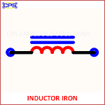 INDUCTOR IRON ELECTRONIC SYMBOL OR SCHEMATIC SYMBOL