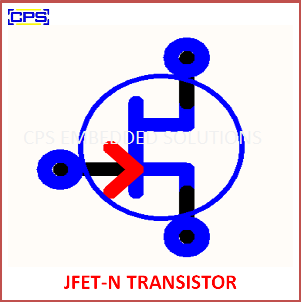 Electronic Components Symbols - JFET N TRANSISTOR