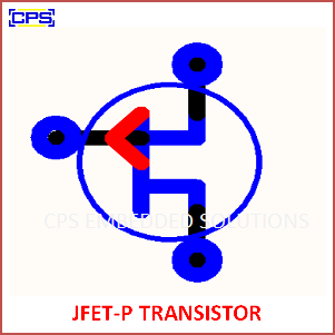 Electronic Components Symbols - JFET P TRANSISTOR