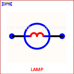 LAMP ELECTRONIC SYMBOL OR SCHEMATIC SYMBOL