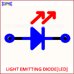 LED - LIGHT EMITTING DIODE ELECTRONIC SYMBOL OR SCHEMATIC SYMBOL