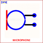 MICROPHONE ELECTRONIC SYMBOL OR SCHEMATIC SYMBOL