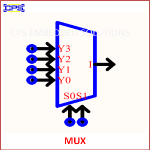 MUX ELECTRONIC SYMBOL OR SCHEMATIC SYMBOL