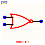 NOR GATE ELECTRONIC SYMBOL OR SCHEMATIC SYMBOL