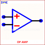 OP-AMP ELECTRONIC SYMBOL OR SCHEMATIC SYMBOL