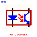 OPTO COUPLER ELECTRONIC SYMBOL OR SCHEMATIC SYMBOL