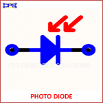 PHOTO DIODE ELECTRONIC SYMBOL OR SCHEMATIC SYMBOL