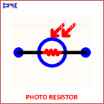 PHOTO RESISTOR ELECTRONIC SYMBOL OR SCHEMATIC SYMBOL