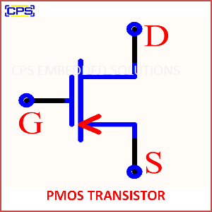 Electronic Components Symbols - PMOS TRANSISTOR
