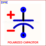 POLARIZED CAPACITOR ELECTRONIC SYMBOL OR SCHEMATIC SYMBOL