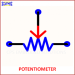 POTENTIOMETER ELECTRONIC SYMBOL OR SCHEMATIC SYMBOL