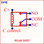 RELAY SPDT ELECTRONIC SYMBOL OR SCHEMATIC SYMBOL