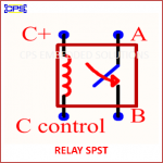 RELAY SPST ELECTRONIC SYMBOL OR SCHEMATIC SYMBOL