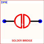 SOLDER BRIDGE ELECTRONIC SYMBOL OR SCHEMATIC SYMBOL