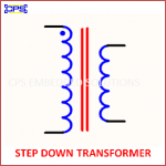 STEP DOWN TRANSFORMER ELECTRONIC SYMBOL OR SCHEMATIC SYMBOL