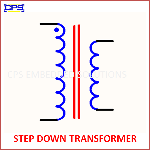 Electronic Components Symbols - STEP DOWN TRANSFORMER