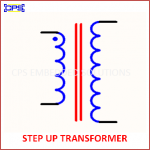STEP UP TRANSFORMER ELECTRONIC SYMBOL OR SCHEMATIC SYMBOL