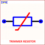 TRIMMER RESISTOR ELECTRONIC SYMBOL OR SCHEMATIC SYMBOL