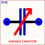 VARIABLE CAPACITOR ELECTRONIC SYMBOL OR SCHEMATIC SYMBOL