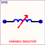 VARIABLE INDUCTOR ELECTRONIC SYMBOL OR SCHEMATIC SYMBOL