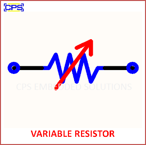 Electronic Components Symbols - VARIABLE RESISTOR