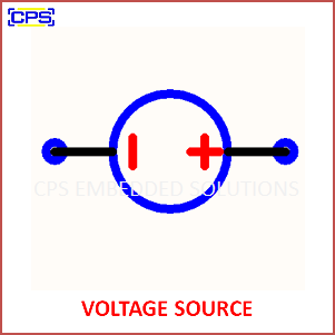 Electronic Components Symbols - VOLTAGE SOURCE