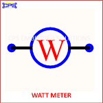 WATT METER ELECTRONIC SYMBOL OR SCHEMATIC SYMBOL
