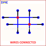 WIRES CONNECTED ELECTRONIC SYMBOL OR SCHEMATIC SYMBOL