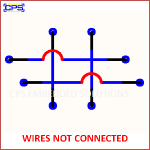 WIRES NOT CONNECTED ELECTRONIC SYMBOL OR SCHEMATIC SYMBOL