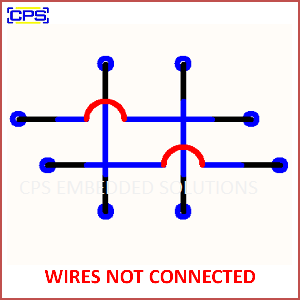 Electronic Components Symbols - WIRES NOT CONNECTED