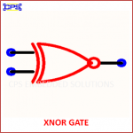 XNOR GATE ELECTRONIC SYMBOL OR SCHEMATIC SYMBOL