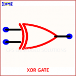 XOR GATE ELECTRONIC SYMBOL OR SCHEMATIC SYMBOL