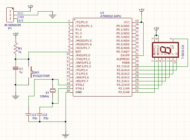 IR SENSOR INTERFACING WITH 8051