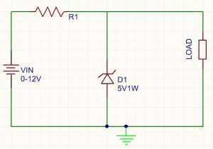 circuit diagram for zener voltage regulator